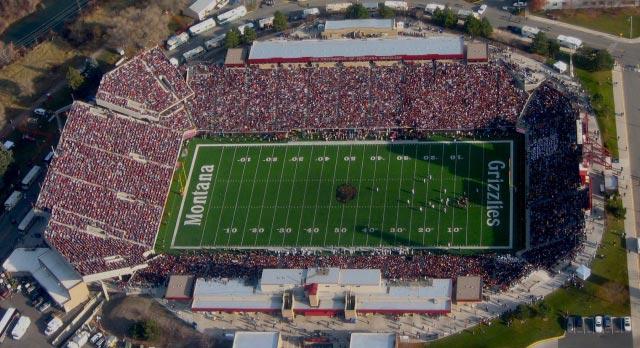 Montana Grizzlies Washington Grizzly Stadium Football
